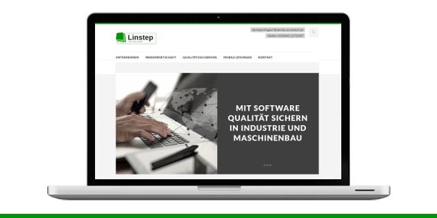 Linstep Website mit Responsive Design