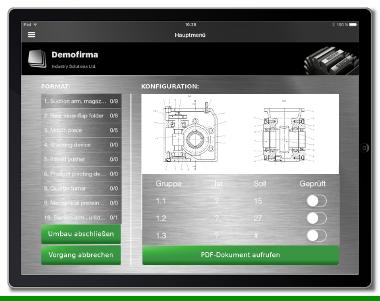 Service-App Maschinenwartung