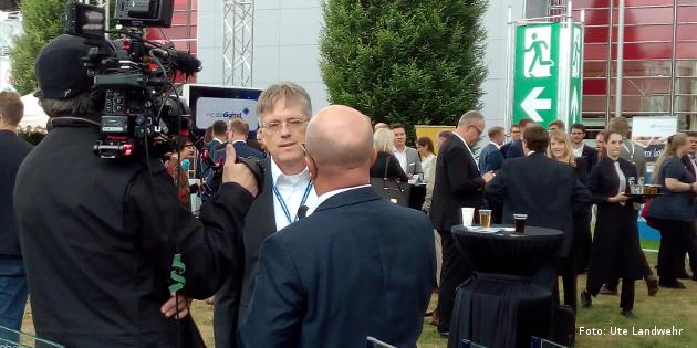 Geschäftsführer Dirk Bohlen auf der Cebit
